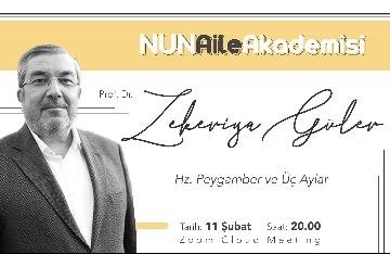 NUN Aile Akademisinde Prof. Dr. Zekeriya Güler'i Ağırladık
